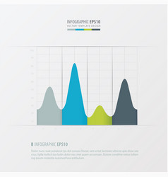 graph and infographic design green blue gray vector image