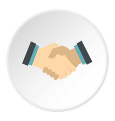 Handshake icon circle vector