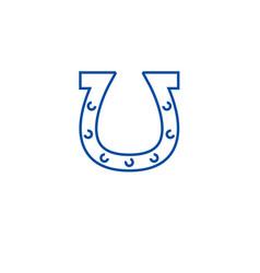 horseshoe line icon concept horseshoe flat vector image