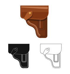 Isolated object of weapon and gun icon set of vector