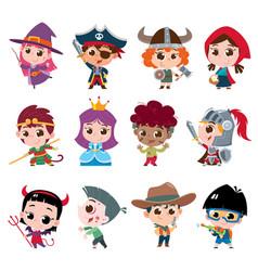 kids character vector image