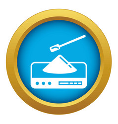 Lab scales icon blue isolated vector