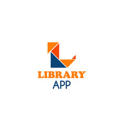 library app icon vector image
