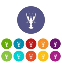 Lobster set icons vector image
