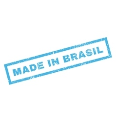 Made In Brasil Rubber Stamp vector