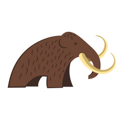 mammoth isolated icon stone age and prehistoric vector image