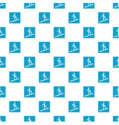 Man climbing the stairway pattern seamless vector