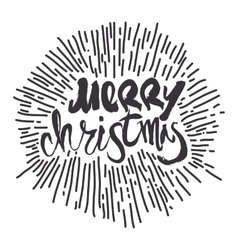 Merry Christmas calligraphy Handwritten modern vector image