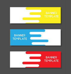 modern abstract colorful banners template set vector image