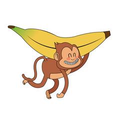 monkey cartoon icon image vector image