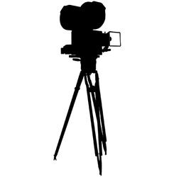 Motion film camera vector