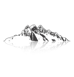 Mountain and Outdoor Adventures Isolated detailed vector