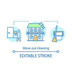 Move out cleaning concept icon vector