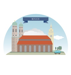 Munich vector image