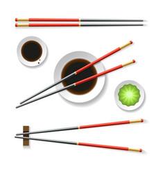 oriental restaurant chopsticks vector image