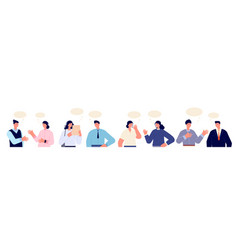 people talking characters communication group vector image