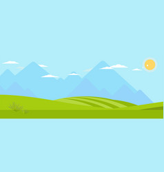 Picturesque panoramic landscape color vector