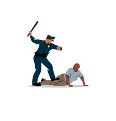 Police violence on black offender vector