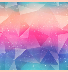 rainbow color triangle pattern vector image