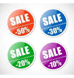Sale stickers with perforation vector