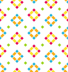 Seamless Pattern with Colored Rhombus Regular vector