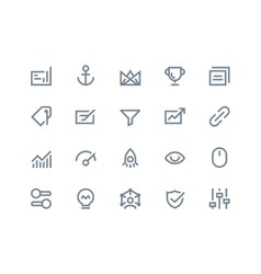 Search optimization icons Line series vector image