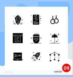 Set 9 modern ui icons symbols signs vector