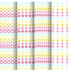 set of four patterns background each full-size vector image