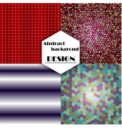 set of geometric pattern abstract background vector image