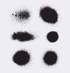 Set of monochrome abstract splash stains textures vector
