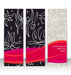 Set of vertical banners headers Editable design vector image