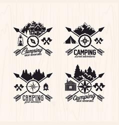 Set summer camp logo vector