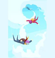Skydiving jump vector