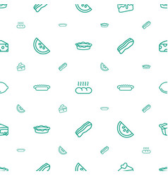 Slice icons pattern seamless white background vector