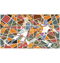 Soccer player mosaic vector image