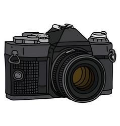 The retro photographic camera vector