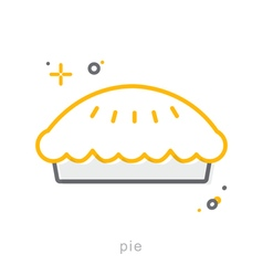Thin line icons Pie vector