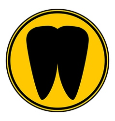 Tooth button vector image