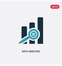 two color data analysis icon from user interface vector image