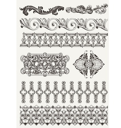 antique design elements and page decoration vector image