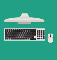 computer desktop monitor icon vector image