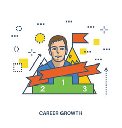 concept of career growth and success or leadership vector image
