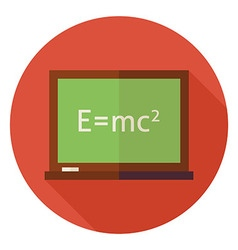 Flat Science and Education Chalkboard Circle Icon vector image vector image