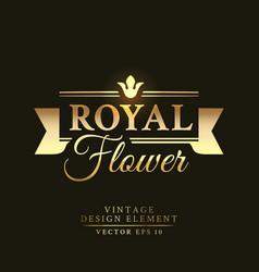 gold vintage retro badge vector image vector image
