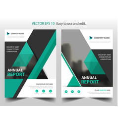 green triangle brochure annual report leaflet vector image vector image