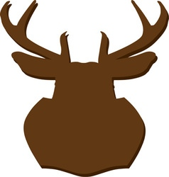 Hunting trophy silhouette vector