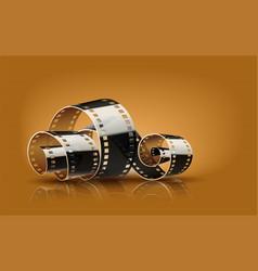 movie cinema film reel vector image vector image