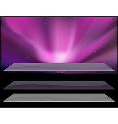 Nothern aurora design vector image