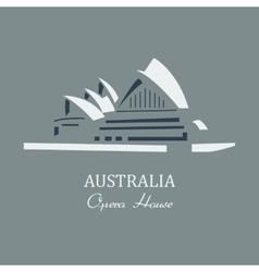 opera house sydney vector image