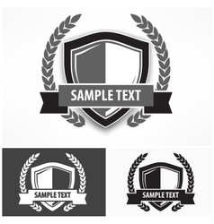 Shields with ribbon and laurel vector image vector image